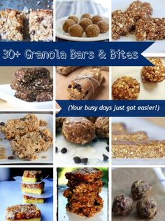 Easy granola bars & bites make Little League games, kids' lunch, soccer practice, and ballet snacks a snap.