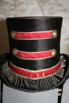 Steampunk Victorian Circus Antique Ring Master Top Hat. $265.00, via Etsy.