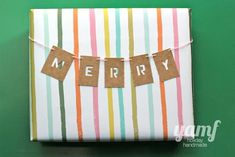 Looking for more creative ways to wrap your gifts this holiday season? Make name tag bunting! Simple Gifts, Easy Gifts, Cute Gifts, Craft Packaging, Pretty Packaging, Creative Gift Wrapping, Creative Gifts, Diy Wrapping, Christmas Fun
