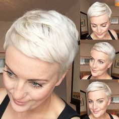 Weißes Haar ist in kurzen Haaren wirklich cool
