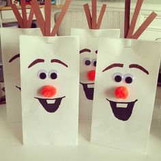 These would be so cute as the kiddos' take home craft bags for our Polar Express Christmas party! from TEAM SKELLEY | the blog: It's a Frozen Birthday Party