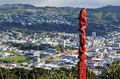 Wellington, New Zealand Statue Art on Mount Victoria