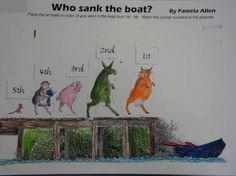 Image result for who sank the boat activities