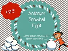 Snowball Fight Antonyms! - pinned by @PediaStaff – Please Visit  ht.ly/63sNt for all our pediatric therapy pins