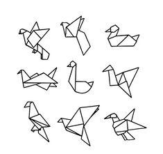Vogel origami...