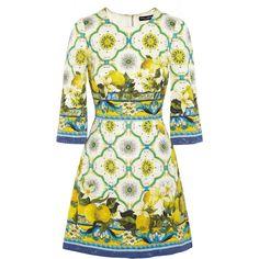 Dolce & Gabbana Printed jacquard mini dress found on Polyvore