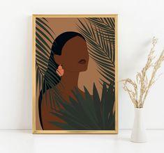 Black Art Painting, Painting Of Girl, Watercolor Paintings, Black Girl Art, Black Women Art, Art Girl, Modern Art Prints, Modern Wall Art, Amazing Artwork