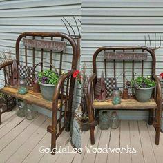 Repurpose. Plants. Outdoor decor. Garden ideas