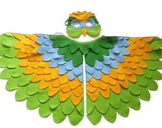 Children Woodpecker Costume Bird Wings and Mask by BHBKidstyle