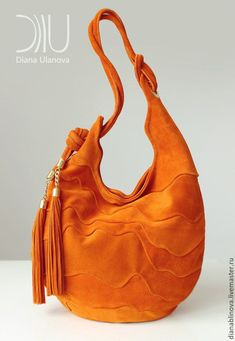Женские сумки ручной работы. УЛЕЙ оранж. Diana Ulanova. Ярмарка Мастеров. Необычная сумка