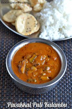Pavakkai Puli Kulambu - Bitter Gourd Tamarind Gravy