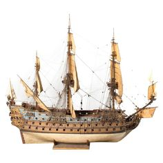 Museum Scale Century Model of the 'Le Louis Quinze' 1 British Navy Ships, Model Ship Building, Ship Of The Line, Wooden Ship, Maritime Museum, Vintage Nautical, Wooden Boats, Model Ships, Tall Ships