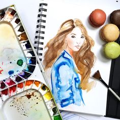 Sketchbook: Watercolor Illustrations, fashion illustration by Elena Fay