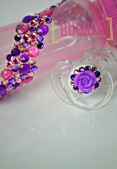 Embellished Bling Baby Bottle & Pacifier Set by Bugglestore, $17.50