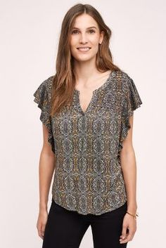 Marion Pleated Top | Anthropologie