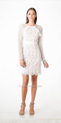 ae75e8b8206 Long Sleeve Mixed Lace Bailey Sheath Dress by Adelyn Rae