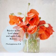 Philippians 4:4 - Rejoice in the Lord...So much to rejoice for in Christ!!