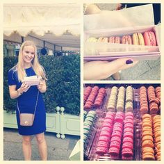 It's BB staffer Logan's first time in Paris so she went to Laduree. Yum!