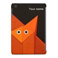 Dark Cute Origami Fox Personalized iPad Mini Retina Case $63.95 #ipadmini #case #fox #personalized