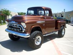 1957 Chevy Pick-Up. Can I have it in black? Chevy 4x4, 57 Chevy Trucks, Gm Trucks, Chevy Pickups, Cool Trucks, Chevy 3100, Lifted Trucks, Classic Pickup Trucks, Old Pickup Trucks