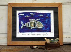 - era un pesce senza fiato - Sara Pierotti Art Prints