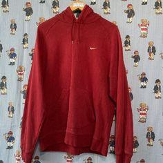 Vintage Maroon Nike Hoodie (M) ✔️ Maroon Nike, Vintage Sportswear, Nike Hoodie, Fred Perry, White Nikes, Nike Logo, Reebok, Tommy Hilfiger, Calvin Klein