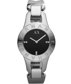 Armani Exchange Silver-tone Bracelet Women's watch Bangle Bracelets, Bracelet Watch, Bangles, Armani Watches For Women, Brand Name Watches, Beautiful Watches, Watch Sale, Quartz Watch, Rolex Watches