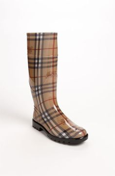 Burberry Tall Rain Boot available at #Nordstrom. I really need a good, fashionable pair since I live in a rainy state.
