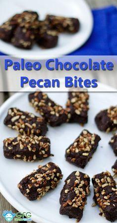 Paleo Chocolate Pecan Bites (sugar free option)   http://www.grassfedgirl.com/paleo-chocolate-pecan-bites-sugar-free-option/