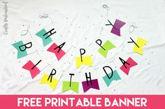 free printable happy birthday banner large party banner ready to