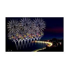 Fireworks, fogos de artificio,Copacabana ❤ liked on Polyvore