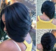 """It can not be repeated enough, bob is one of the most versatile looks ever. We wear with style the French """"bob"""", a classic that gives your appearance a little je-ne-sais-quoi. Here is """"bob"""" Despite its unpretentious… Continue Reading → Black Girl Bob Hairstyles, Curly Bob Hairstyles, Weave Hairstyles, Curly Hair Styles, Natural Hair Styles, Bob Haircuts, Layered Bob Hairstyles For Black Women, Pretty Hairstyles, Wedding Hairstyles"""