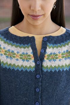 Ravelry: Trefoil Cardigan pattern by Gudrun Johnston ~ This just may be my next project ~