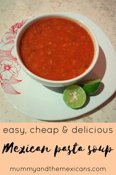 Quick, cheap and easy recipe for Sopa de pasta - Mexican pasta soup, a delicious and comforting dish. Best Soup Recipes, Healthy Soup Recipes, Pork Recipes, Mexican Food Recipes, Easy Recipes, Mexican Dishes, Drink Recipes, Cheap Easy Meals, Quick Easy Meals