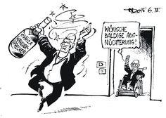 OÖN-Karikatur vom 9. Februar 2015: »Griechischer Wein ...« Mehr Karikaturen auf: http://www.nachrichten.at/nachrichten/karikatur/ (Bild: Haitzinger)