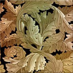 William Morris Acanthus in Black Hills Gold colors.