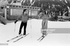 Courchevel, France, , Princess Caroline of Monaco skiing with her first husband Philippe Junot. ,