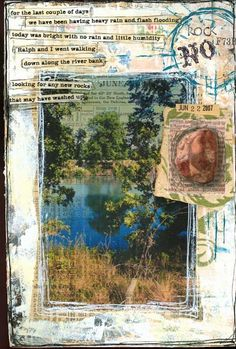 6-22-07 river bend ranch - art journal page by Rambling Rose
