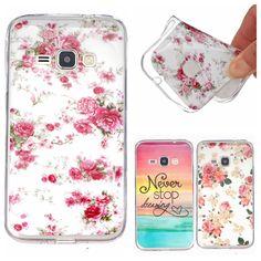J120 Case Fashion Rose Flower Design Glossy Soft IMD TPU Back Cover Case for Samsung Galaxy J1 2016 J120 J120F J120H Phone Case