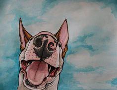 bull terrier by Orangehusky on deviantART
