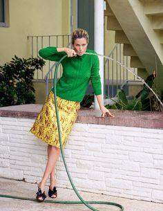 Carolyn Murphy por Matt Jones para Elle Itália Abril 2015 [Editorial]