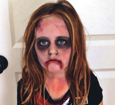 Zombie makeup. Layla is going to be a zombie princess for Halloween