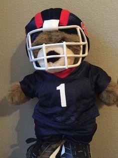 """Build•A•Bear Plush Teddy with Football Helmet, Uniform & Cleats 17""""…"""