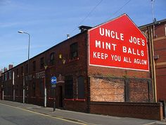 Santos', Wigan - home of Uncle Joe's mint balls. Used to walk past this on the way to school.