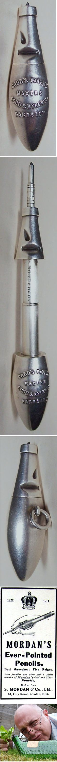 tx for sharing John Ault, For REAL Diggers & Collectors, Visual Storyteller : For Hybrid day, a Codd & Rylands mechanical advertising pencil made by Sampson Morden. Works a treat, a beautiful piece of engineering.