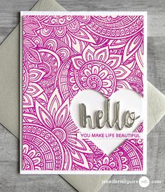 embossing with multiple colors of E P      Hello! Today I am sharing a really cool technique of layering heat embossing to create gorgeous backgrounds. I also am part of a blog hop celebrating a month dedicated to stamping... STAMPtember®!