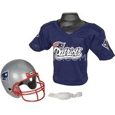 Franklin Sports Youth NFL New England Patriots Helmet and Jersey Set -  Medium 744fa9fce