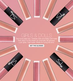Nars Beauty. Lipgloss, pattern animation.   Gif design in emails