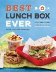 """Best Lunch Box Ever.  A Hoity-toity book about giving children """"nutritional meals."""" Although many of the ideas were easy to make, some include foods that I don't believe most kids would purposefully eat. A proscuttio and goat cheese lavash pizza, for example, would not have seemed appetizing to my elementary-school self. Also, advocating a dessert of some dried fruit or  12 chocolate chips seems to just mean that the child will swap food at lunch instead of actually eating what was packed."""