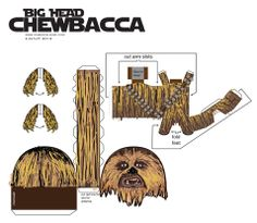 Chemical9: Big Head Chewbacca paper toy with printable template